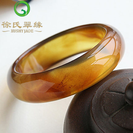 Tsui tsui edge natural burma jade jewelry natural amber bracelet amber 56mm