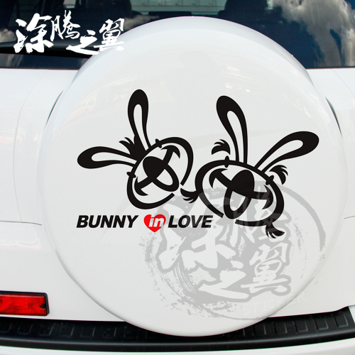 Tu teng wings personalized car stickers reflective stickers funny car stickers car sticker cartoon bunny lovers c107