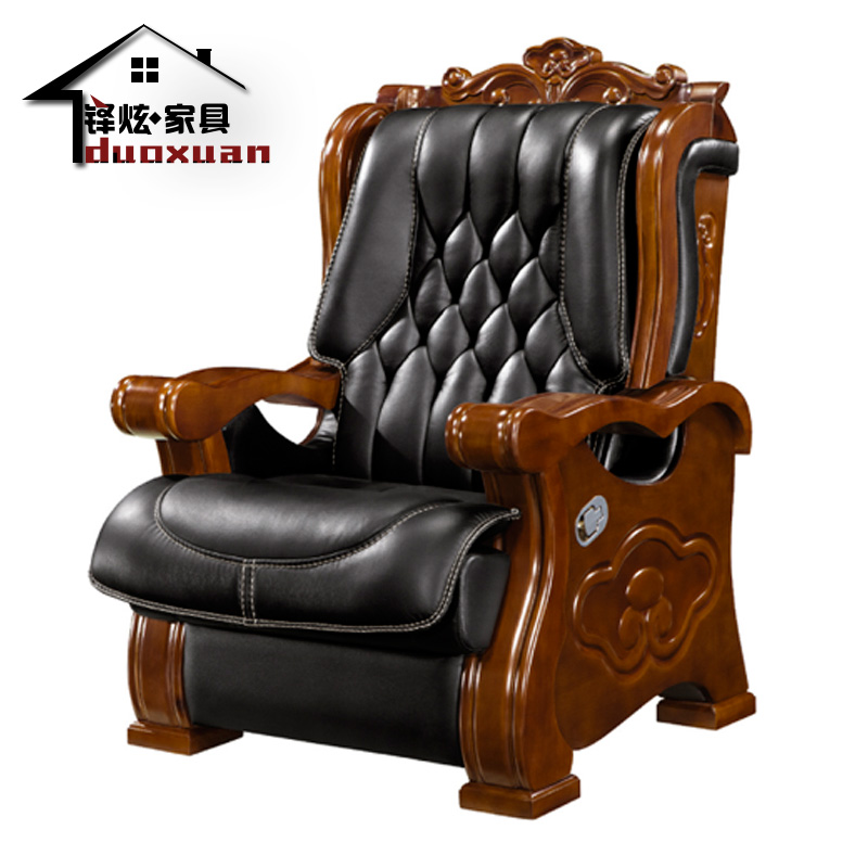 Get Quotations · Tudor Hyun Wood Furniture Boss Chair Leather Chair  Chairman And Managing Director Chair Office Chair Chair