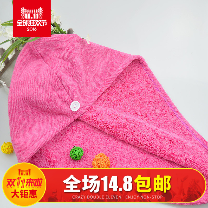 Tuky/dorje strong absorbent towel dry hair cap increased thickening lovely dry hair towel dry hair shower cap