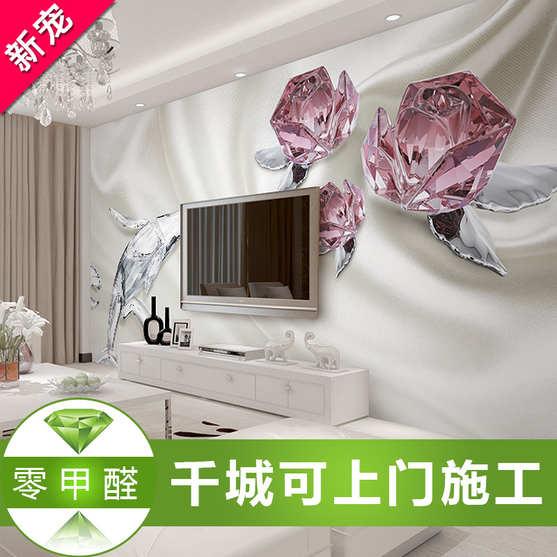 Tv backdrop wallpaper modern minimalist living room bedroom marriage room wall covering seamless 3d stereoscopic wallpaper mural