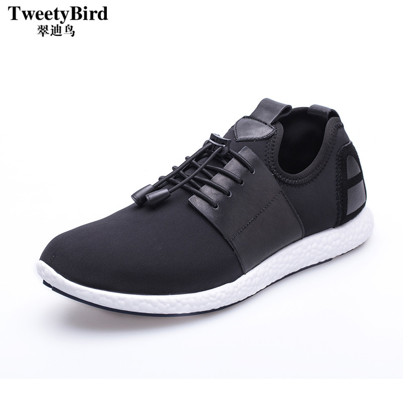 Tweety bird summer black lace mesh youth comfort wild men to help low breathable sports and leisure shoes korean