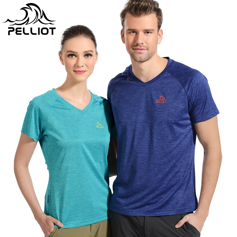 Two [199 yuan] wicking t-shirt outdoor sports breathable wicking and quick drying speed drying men short sleeve v-neck t