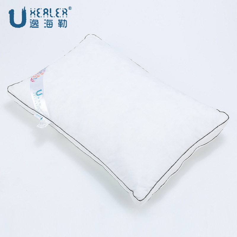 Uhealer heller yi velvet feather pillow white pillow pillow adult star hotel pillow feather pillow cotton pillowcase