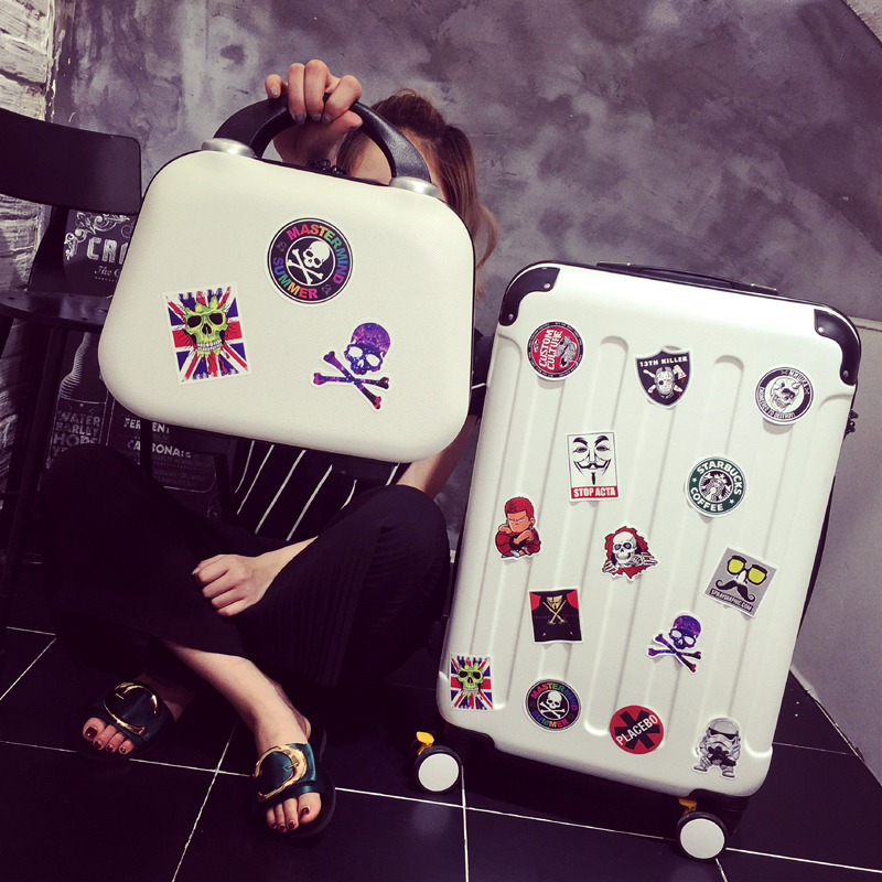 Uldum trolley suitcase caster female boarding luggage suitcase picture box suitcase men and 20 24 26 inch