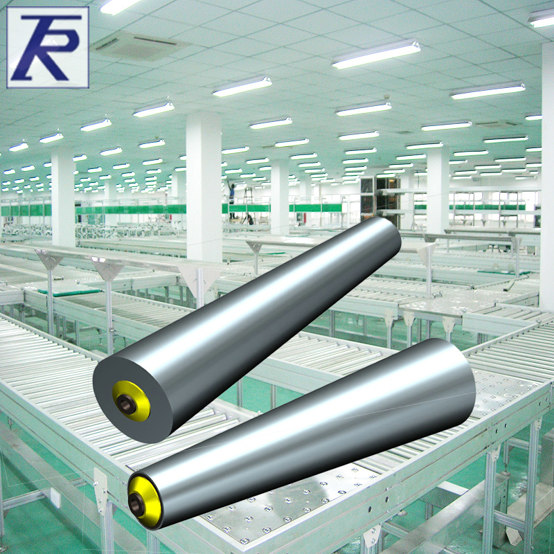 Uncalibrated copolyether steeliness conical tapered roller without power without power galvanized roller drum roller