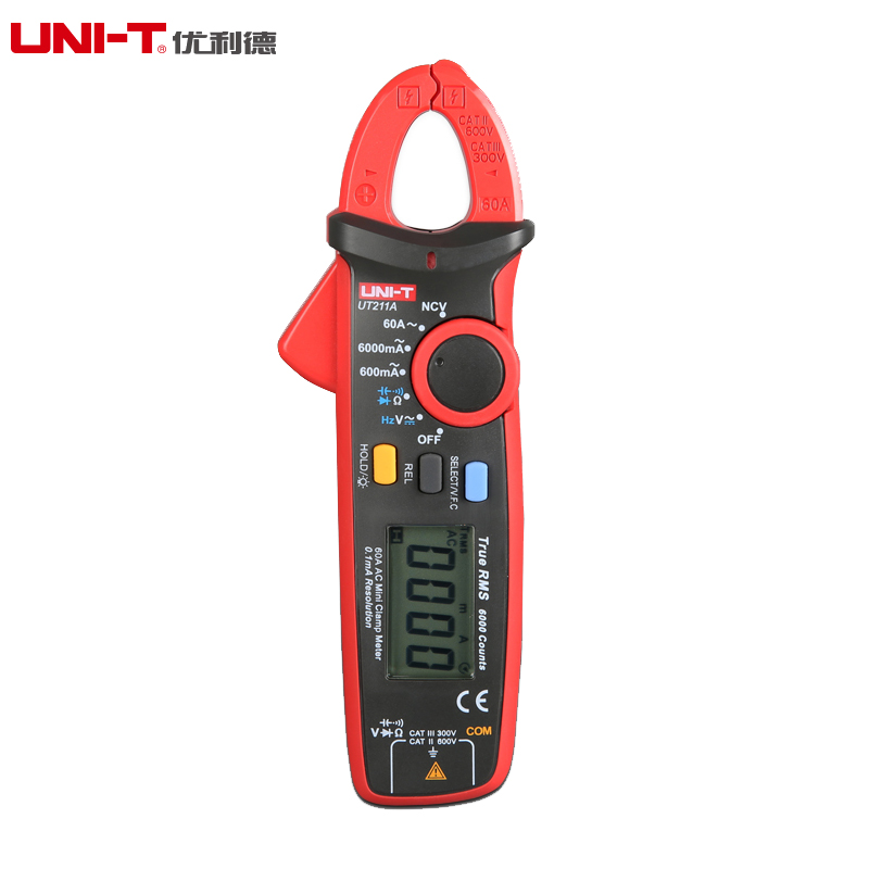 Uni-t/youlide mini clamp meter with high accuracy table UT211A UT211 series 60a/ut2 11b