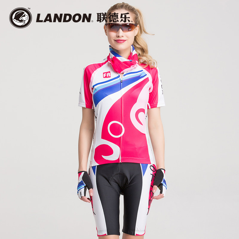Union delo new spring and summer short sleeve cycling jersey suit female bike cycling mountain bike riding clothes suit