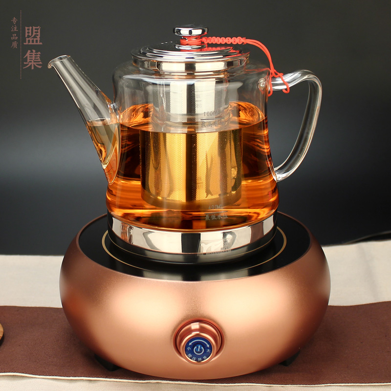 Union set temperature thicker glass teapot silent electric ceramic stove cooker special offer free shipping kung fu tea tea making facilities