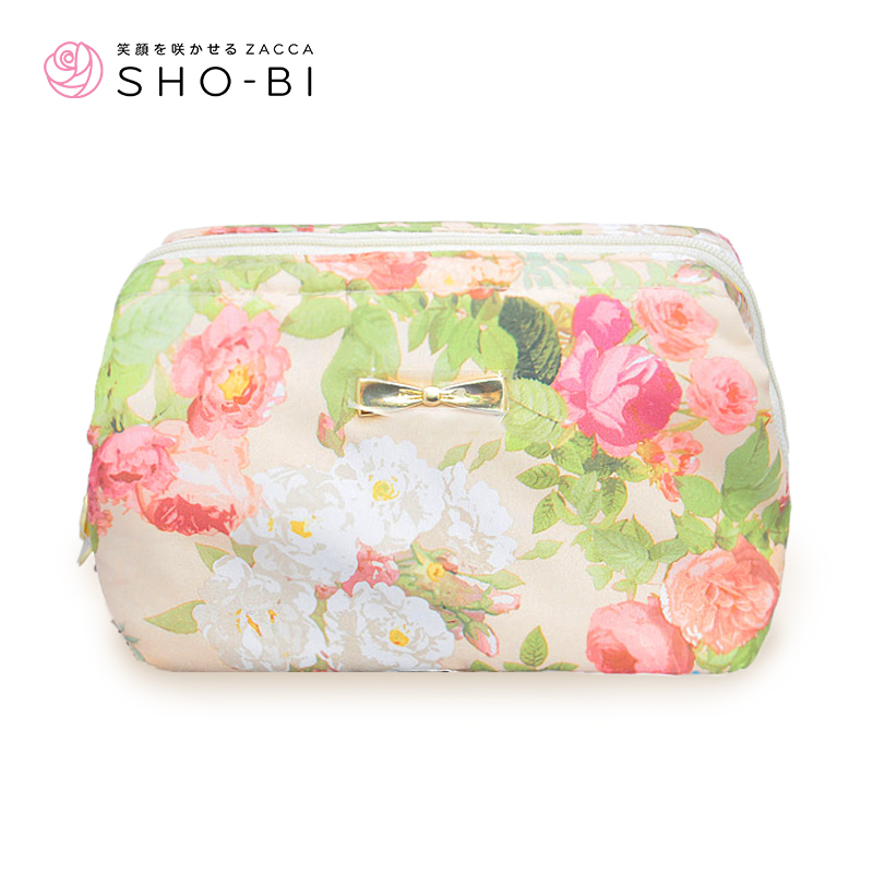 United church makeup shobi lovessa flowers female cosmetic bag large capacity storage bag small portable clutch