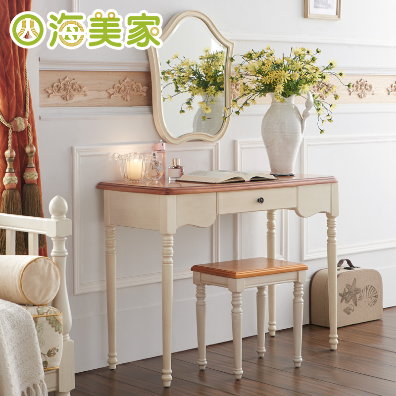 Universal furniture mediterranean american country small apartment dresser dressing table mirror makeup makeup makeup chairs combination makeup mirror