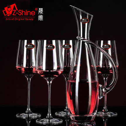 Unleaded crystal glass tuba prismatic hanaprene portuguese red wine decanters wine set wine grape wine