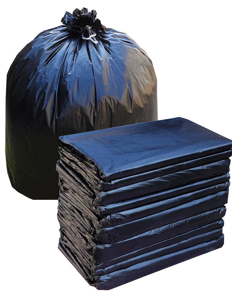 Up to the world thick flat mouth big black garbage bags property hotel sanitation kitchen with a plastic bag 75*90