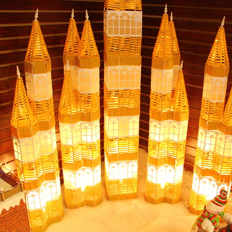 get quotations upscale christmas christmas lights decorated castle castle tower large shopping malls decorated decoration items