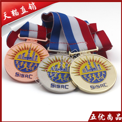 Upscale personalized custom metal bronze medal gold silver bronze medal marathon sports manufacturers custom