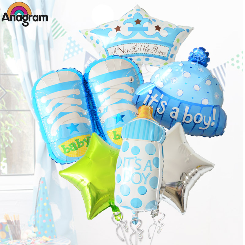 Us anagram aluminum bottle full moon baby hundred days 100 days baby hat shoes crown foil balloons