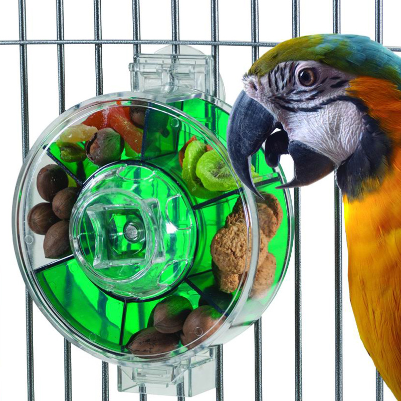 Us caitec foraging heaven large and medium-sized parrot pet bird toys rotating fruit plate lunch box lunch box 2 models