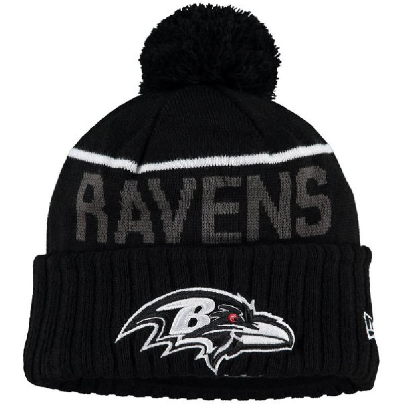 Us direct mail nfl baltimore ravens 2107106 winter new men's hat black hat knit hat line