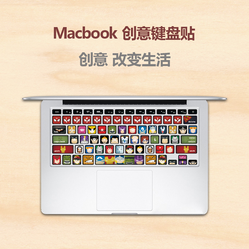 Us parish apple laptop keyboard membrane keyboard stickers affixed stickers mac macbook pro air11 inch 13