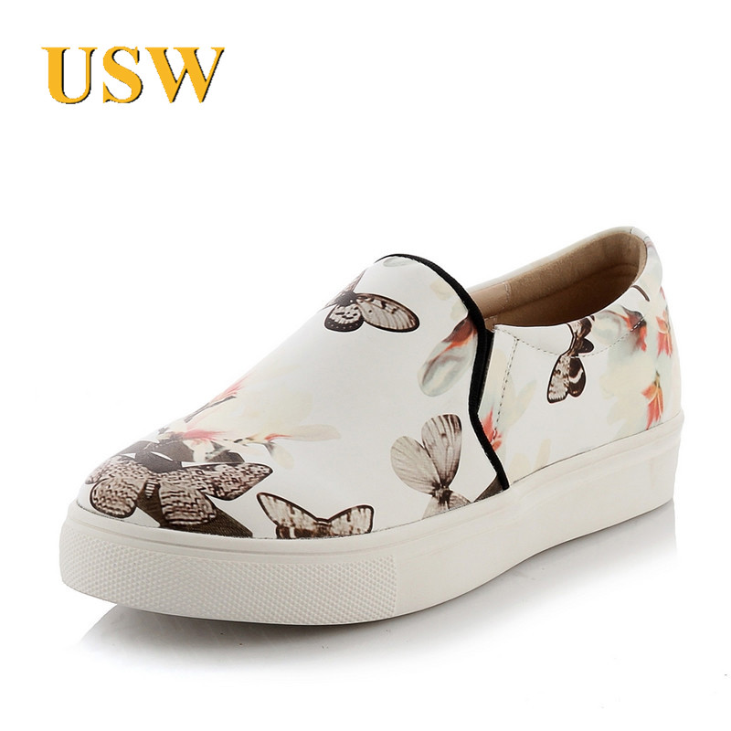 Usw end custom brand new korean version of spring and summer fashion set foot low heel shoes deep mouth round low shoes
