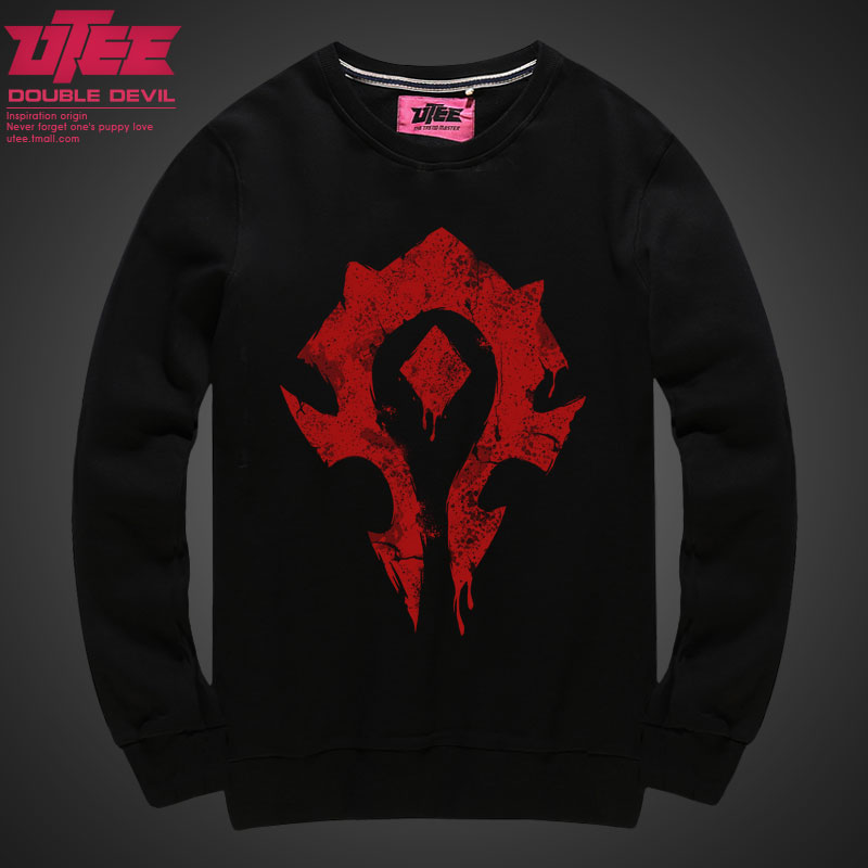 Utee horde alliance world of warcraft surrounding wow world of warcraft movie sleeved autumn long sleeve sweater hedging
