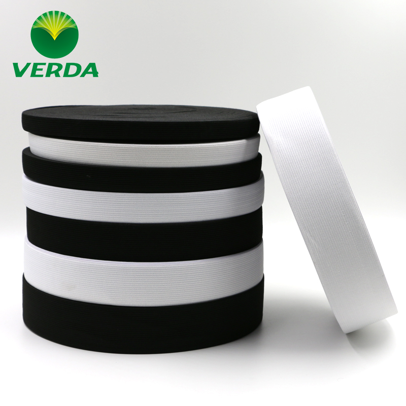 Vader quality high-quality high elastic rubber band elastic band elastic band crochet elastic pants wide flat black and white elastic band