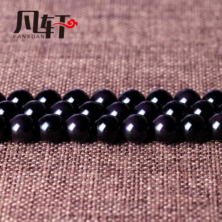 Van xuan natural purple jealous eye obsidian beads scattered beads diy crystal loose beads jewelry accessories semifinished