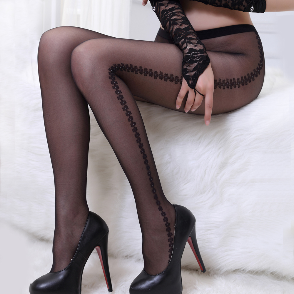 1a0825c78bbc1 Get Quotations · Vertical stripe jacquard thin pantyhose anti hook wire t  crotch sexy japanese socks stockings temptation sexy