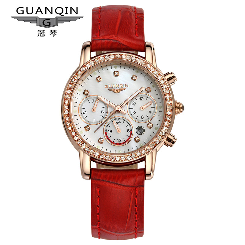 Victor chin are thin quartz watch female form quality fashion multifunction leather ladies watches waterproof watch students