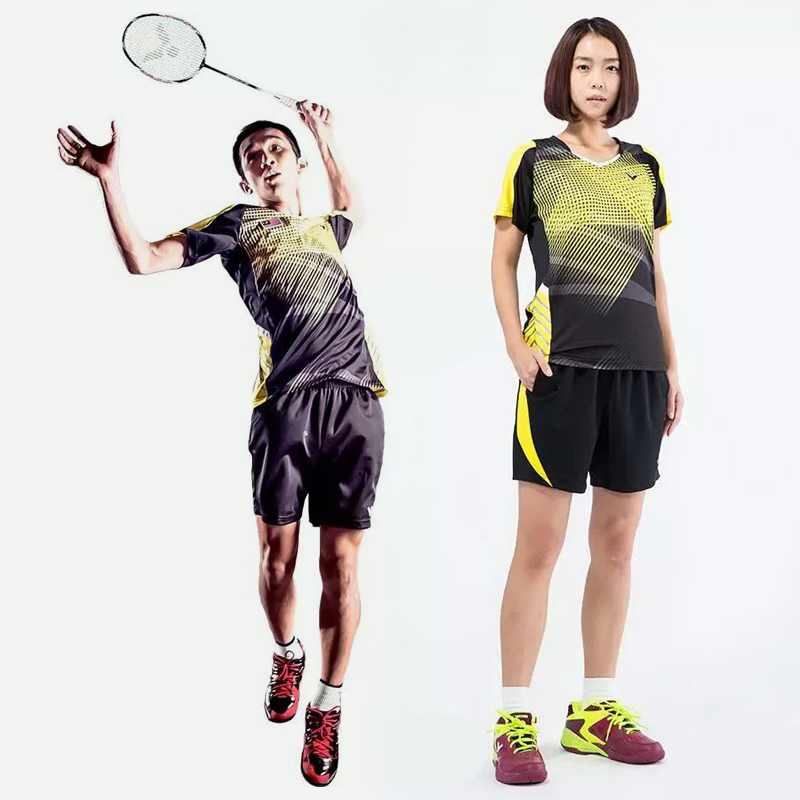 Victor victory badminton clothing for male and female summer sleeveless t-shirt malaysia game service 6002/6102