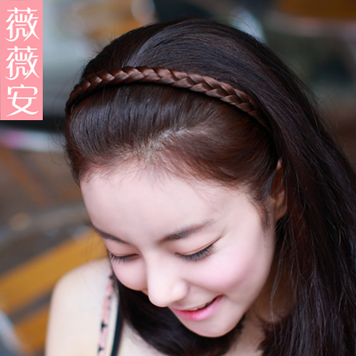 Vivian female wig hair bands tails child wig tails and hair bands hair braids wig fg01 shuang
