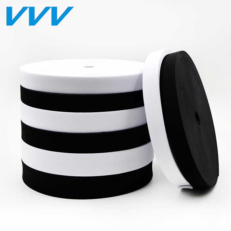 Vvv 40 m dress in black and white loose tight elastic band 0.8-6cm wide elastic rubber band diy accessories clothing accessories