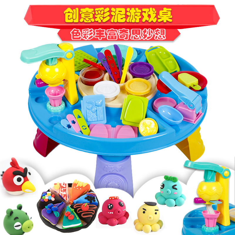 Wai lok plasticine toxic mold tool kit diy children's ice cream machine super 3d color clay plasticine clay toy 3 years of age