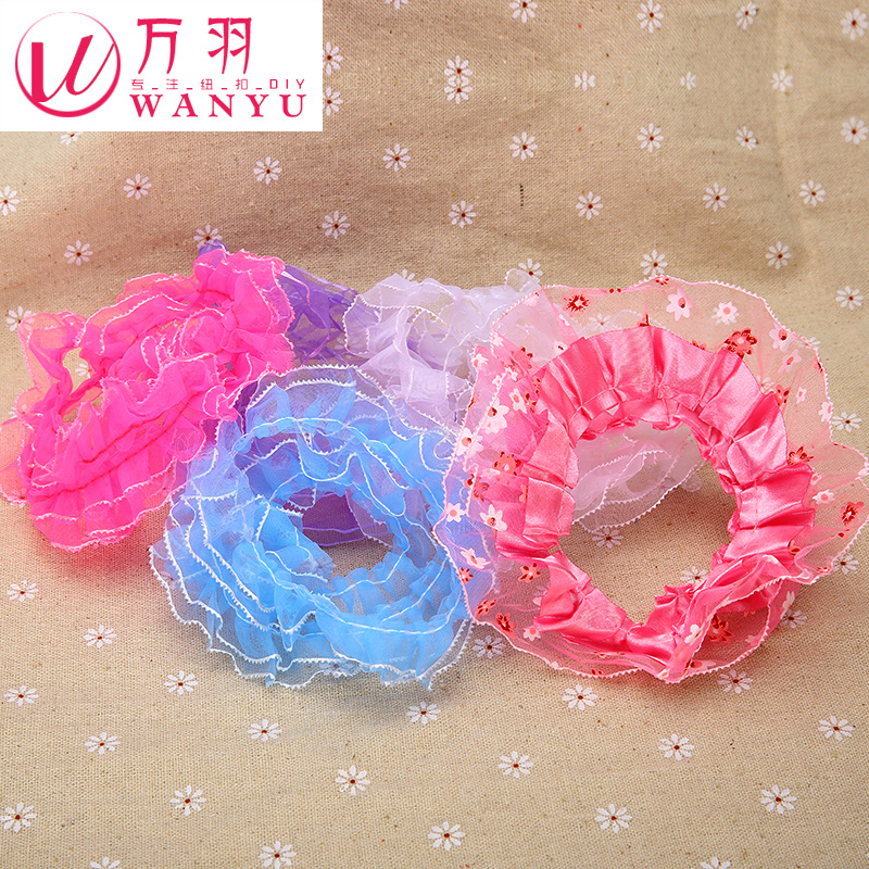 Wan yu clothing accessories color shadai childrenwear hundred folds lace tape diy handmade lace accessories