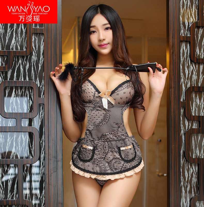 Wan zi yao sexy adult women sexy lingerie stockings suspenders vest suit uniform temptation sexy lingerie uniforms reality show