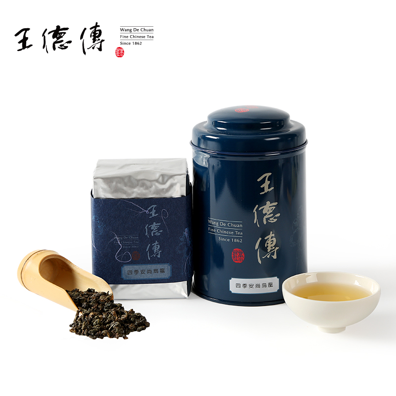 Wang chuan four seasons premier premier oolong tea 150g taiwan oolong tea taiwan original tea prepared by