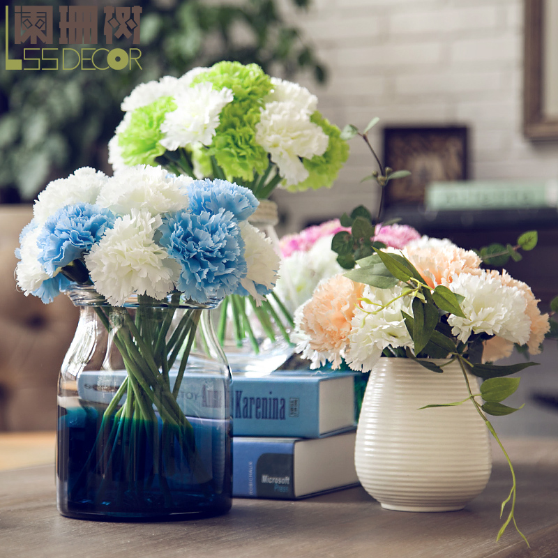 Waning tree living room decoration artificial flowers silk flower single beam artificial flowers carnation teacher mother's gift
