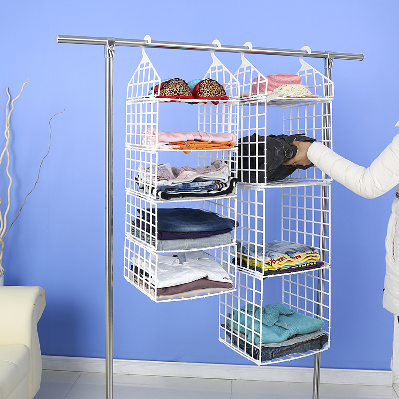 Wardrobe bulkhead tiered storage rack plastic storage cabinets wardrobe storage bag hanging storage bag storage bag
