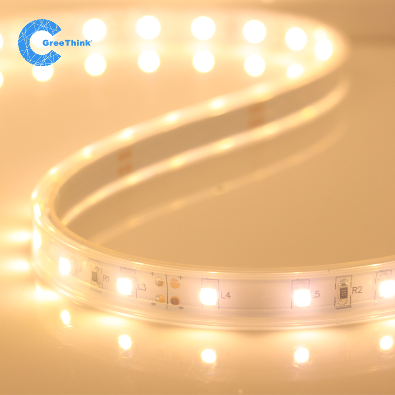 Warm white smd flexible light strip led lights with 12v3528 casing outdoor living room bedroom waterproof decorative lights