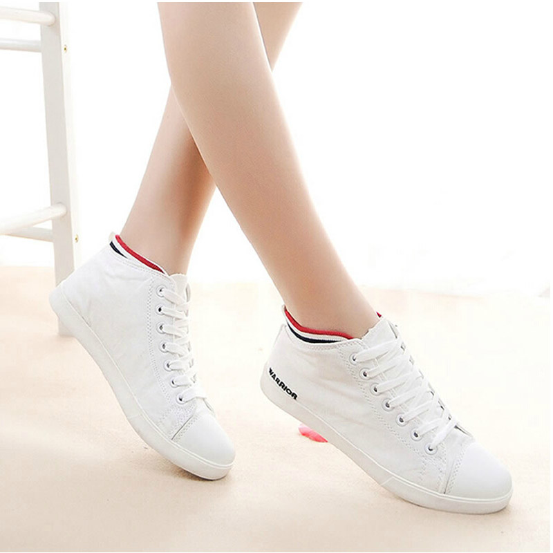 Warrior shoes canvas shoes new spring and summer female korean tidal shoes white female student female models shoes casual shoes