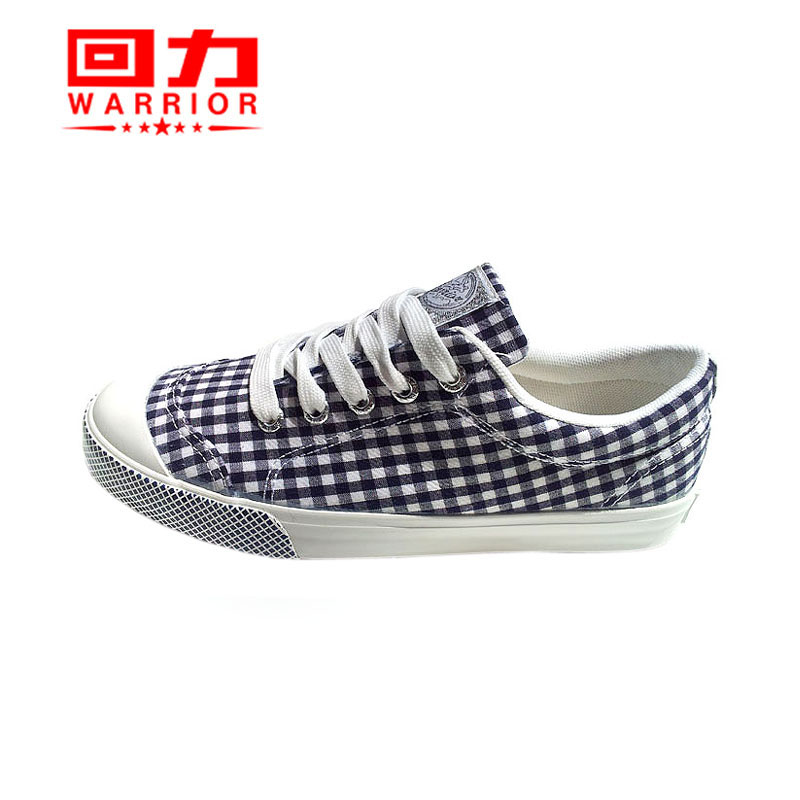 Warrior/warrior cute plaid canvas shoes new shoes to help low clearance warrior girls canvas shoes 250