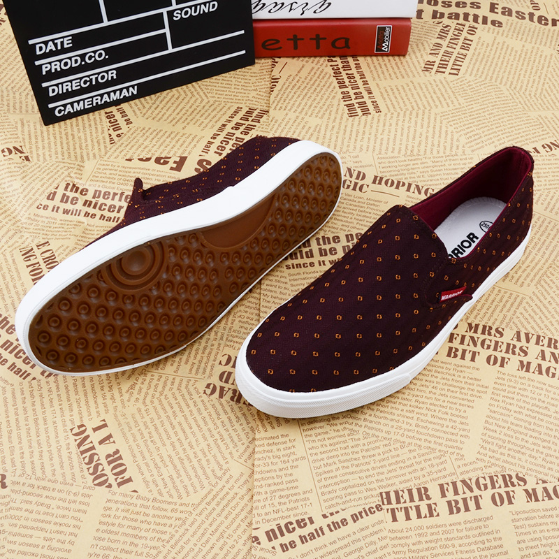 Warrior/warrior warrior shoes canvas shoes men spring and summer breathable men's casual shoes to help low shoes set foot shoes