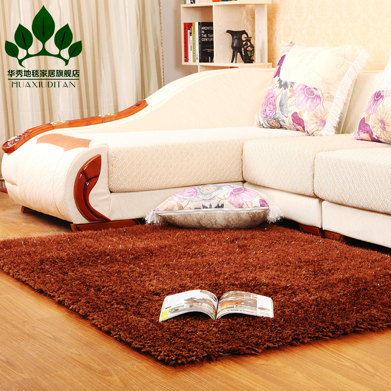Washoe special thickened stretch yarn liangsi stretch silk carpet living room coffee table bedroom carpet paved the marriage room