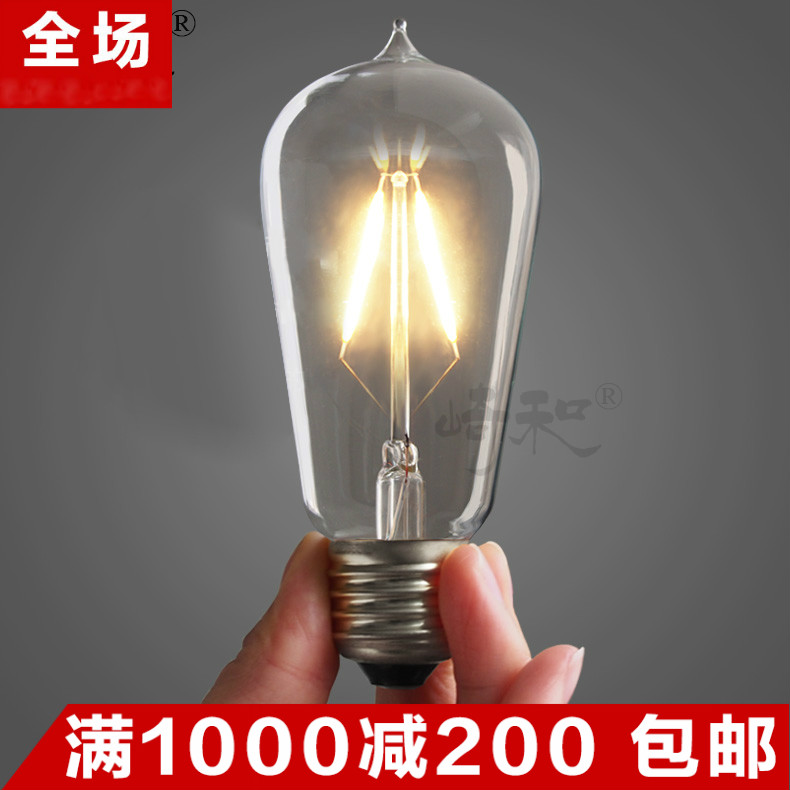 Wassignificantly and led lights edison light bulb filament bulb e27 screw energy saving decorative retro creative arts personality lights