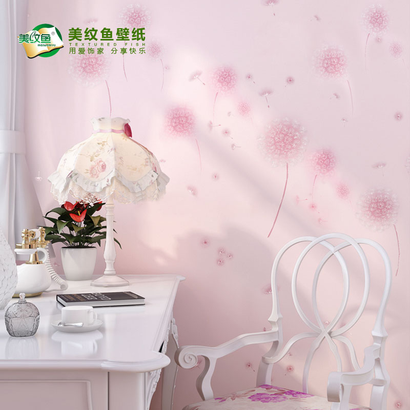 Waterproof adhesive pvc wallpaper living room bedroom tv backdrop wallpaper paste thickening warm dormitory wall stickers