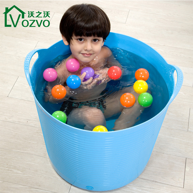 Waugh of waugh large thick plastic baby bath bucket bath bucket bath bucket child baby bath tub