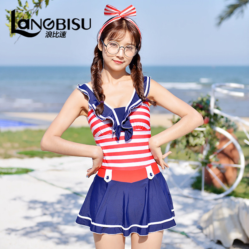 Waves than the speed of 2016 summer new counter genuine children's swimwear piece swimsuit female child women can love big boy