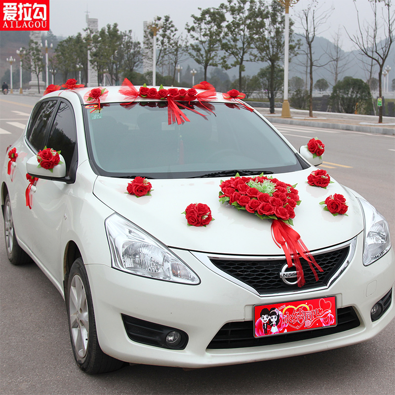 Wedding car decoration artificial flowers suit floats arranged marriage married festive supplies wedding car decoration car flower suit