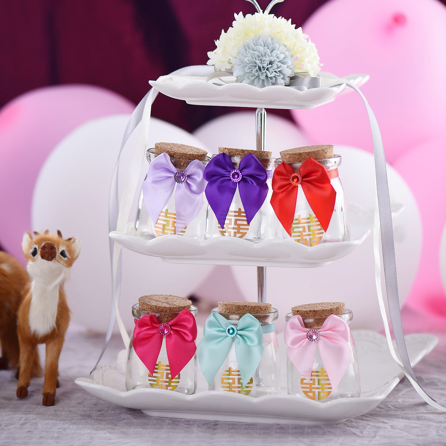 Wedding supplies wedding candy box creative wedding personalized candy box wishing bottle glass pudding bottle candy box