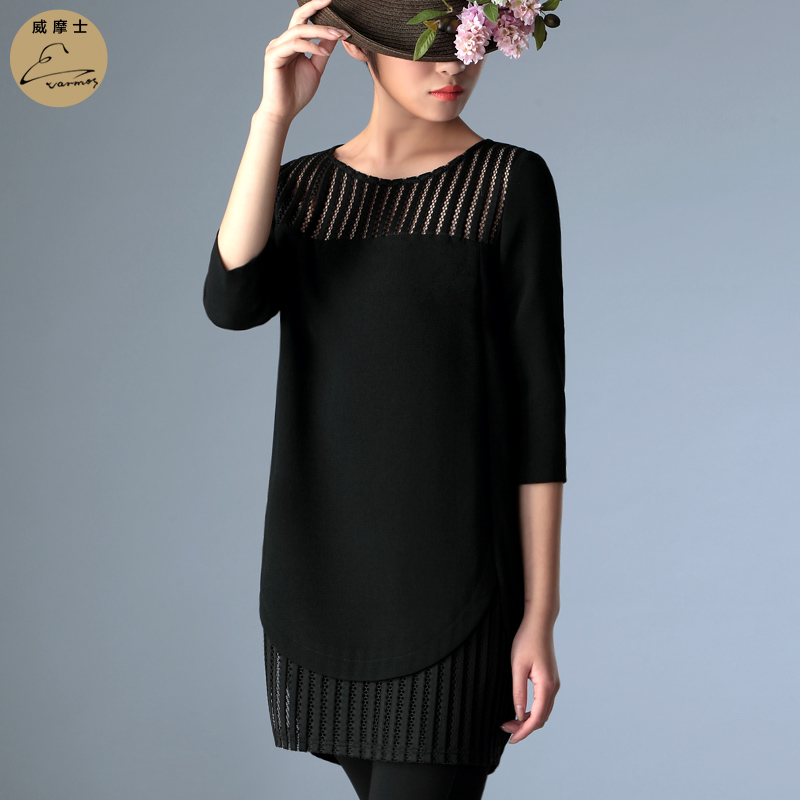 Wei moshi europe and america cocoon loose dress was thin 2015 spring and summer new commuter temperament dress straight